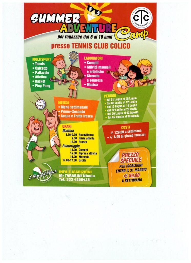 Colico Design Varedo Orari.Tennis Club Colico News